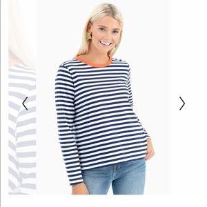 Mod Ref Stripe Long Sleeve Top Small
